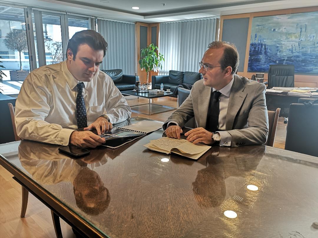 Δελτίο Τύπου: Συνάντηση Δ.Αναστασόπουλου  με τον Υπουργό Ψηφιακής Διακυβέρνησης κ. Κ. Πιερρακάκη