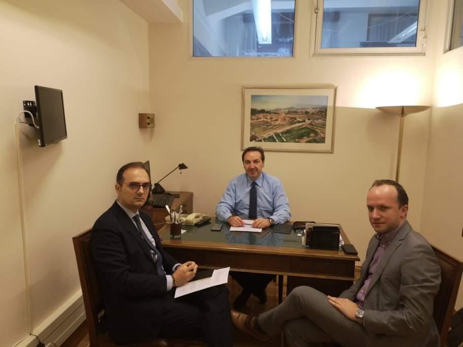 Συνάντηση Δημήτρη Αναστασόπουλου με τον Αν.Κοινοβουλευτικό Εκπρόσωπο της ΝΔ Ιωάννη Μπούγα