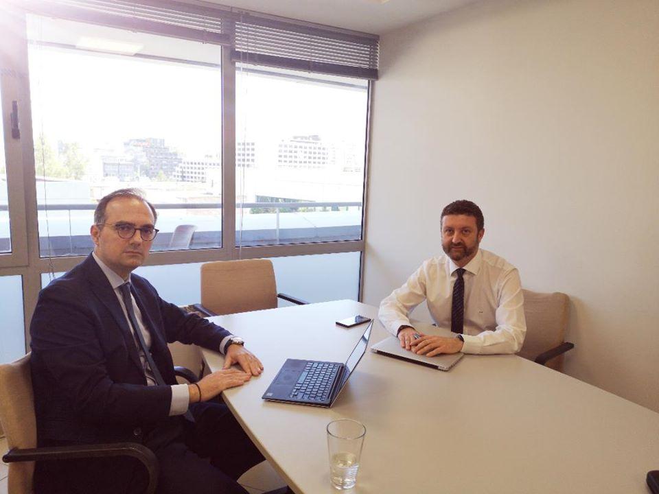 Συνάντηση εργασίας του Δημήτρη Αναστασόπουλου με τον Γενικό Γραμματέα Ψηφιακής Διακυβέρνησης Λεωνίδα Χριστόπουλο